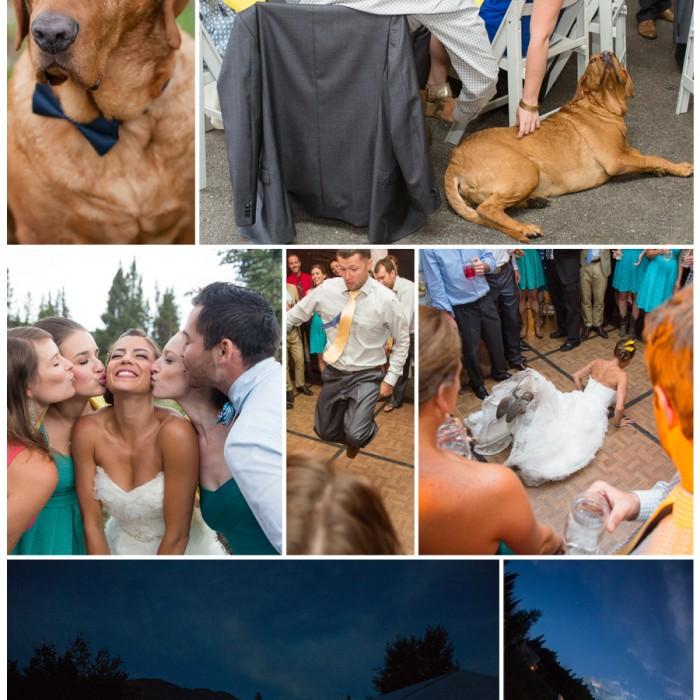 Colorado summer rain visits a backyard wedding in Breckenridge, Colorado - Durban and Logan