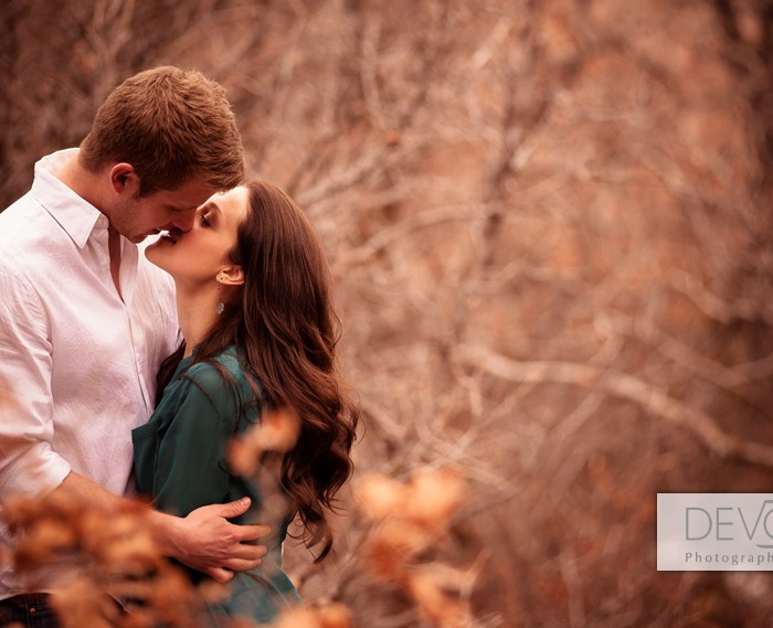 Mountain Winter Engagement Session - Suzanne and David