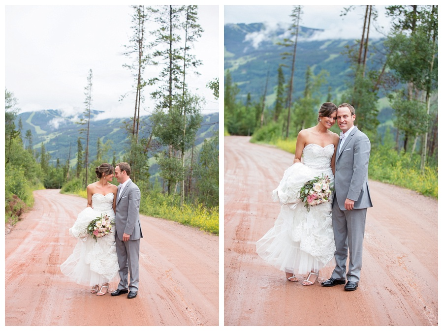 02 Bride and Groom on the Way to Piney River Ranch
