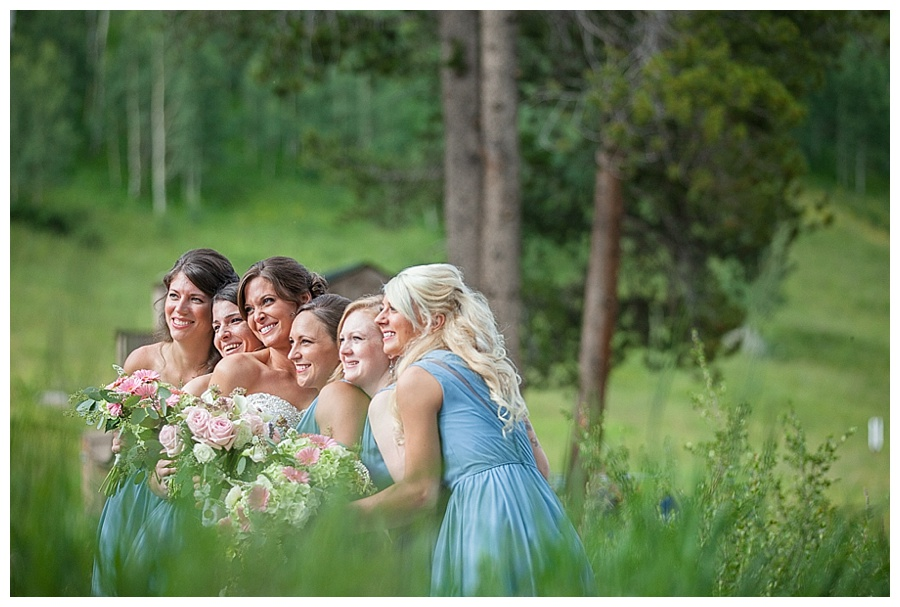 13 Candid of Bride with Bridesmaids Piney River Ranch