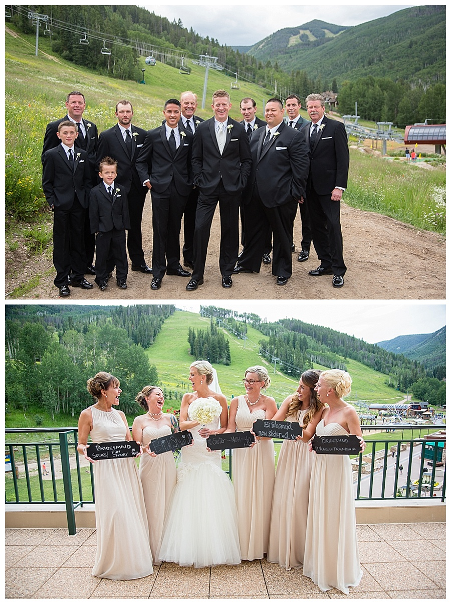 16 Groomsmen and Bridesmaids Beaver Creek Wedding