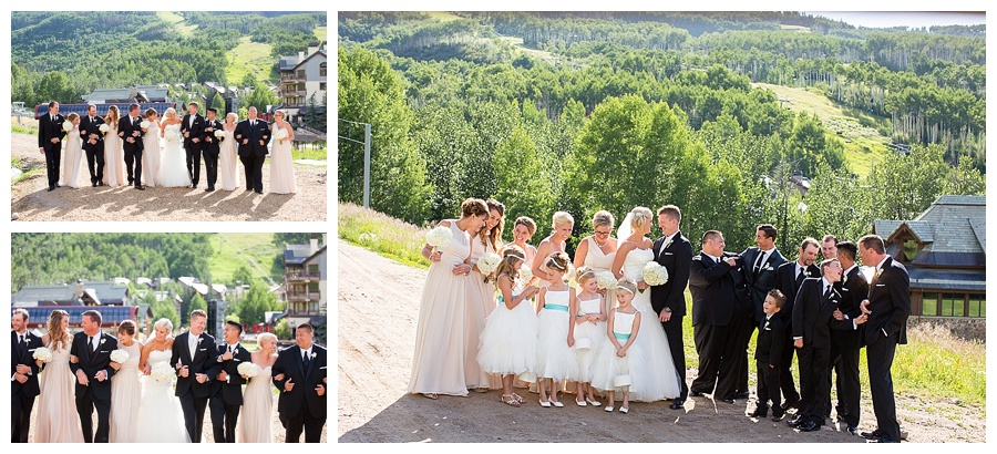 24 Wedding Party on the mountain in Beaver Creek wedding
