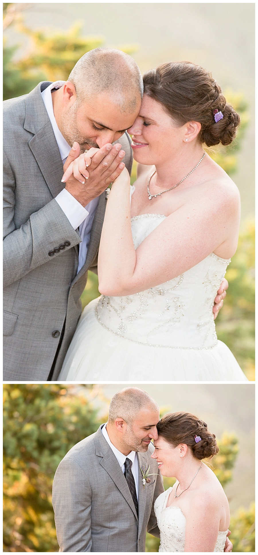 Romantic Sunset wedding photos at Boettcher Mansion