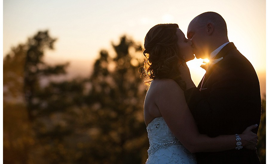 Sunset photo of Bride and Groom at sanctuary golf course
