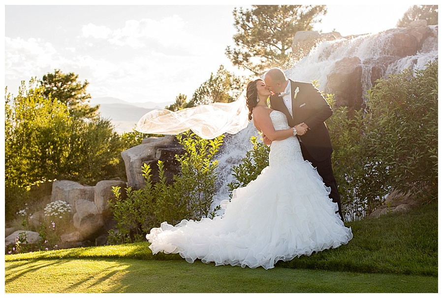 12 Bride and Groom by waterfall sanctuary golf course