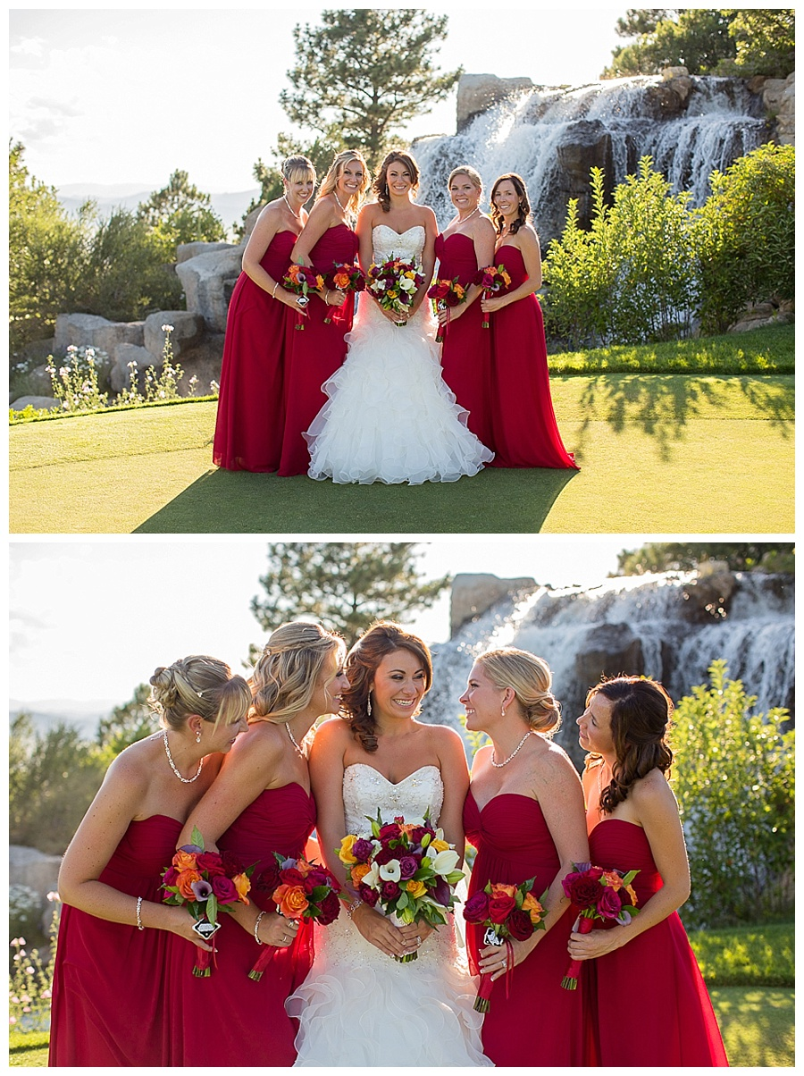 13 Bride with bridesmaids sanctuary golf course