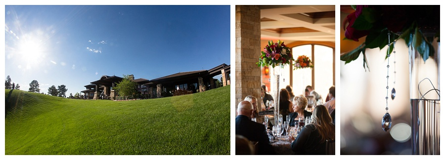 19 View of sanctuary golf course and red reception center pieces