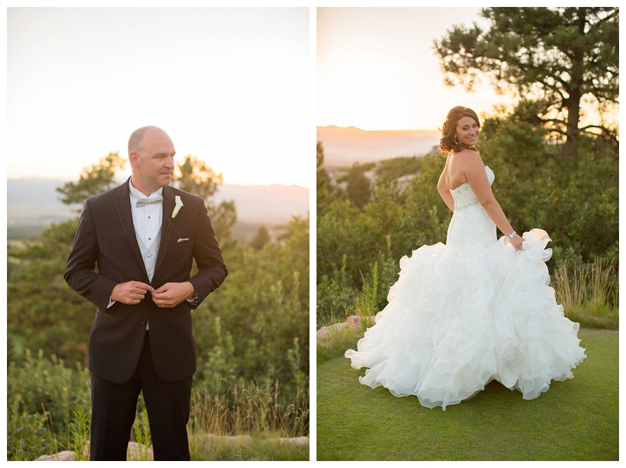 22 Awesome sunset shot of bride and groom sanctuary golf course