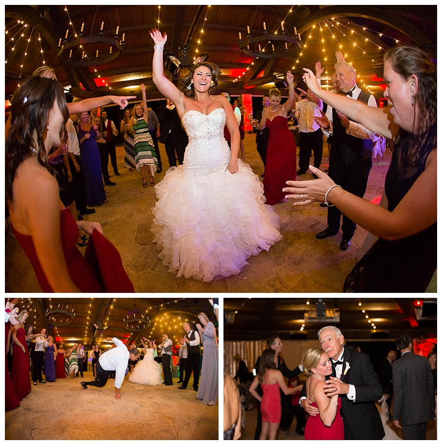 26 Wedding guests dancing at sanctuary golf course