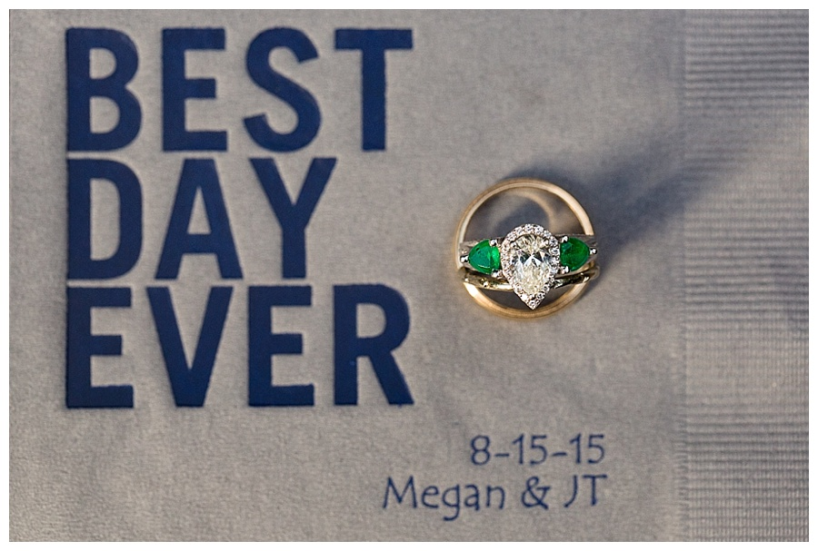 best day ever wedding ring shot Aspen Wedding