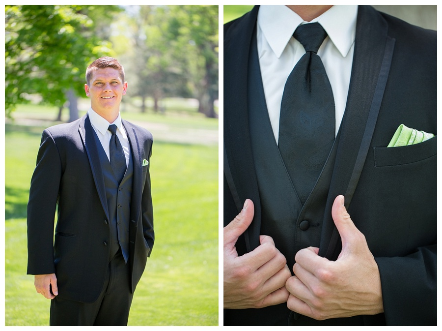 groom with lime green accents