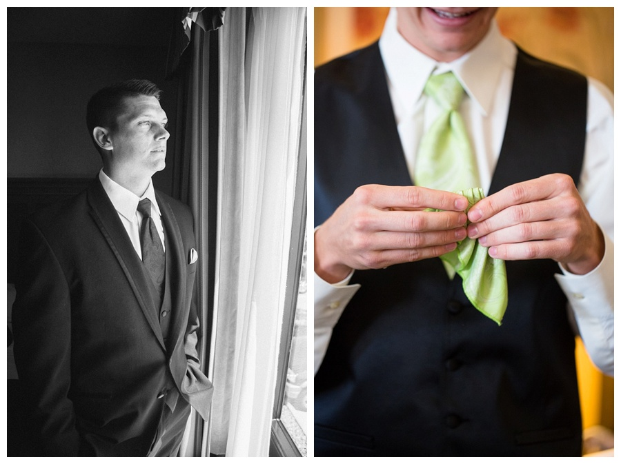 lime green tie for groom's tie