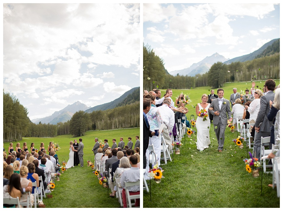 Outside Aspen Snow Mass wedding ceremony mountain shot