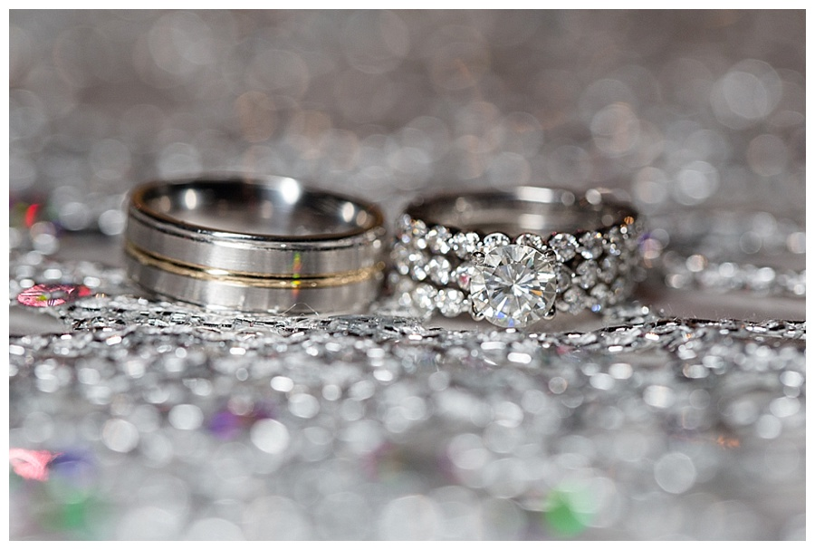 beautiful diamond wedding ring shot
