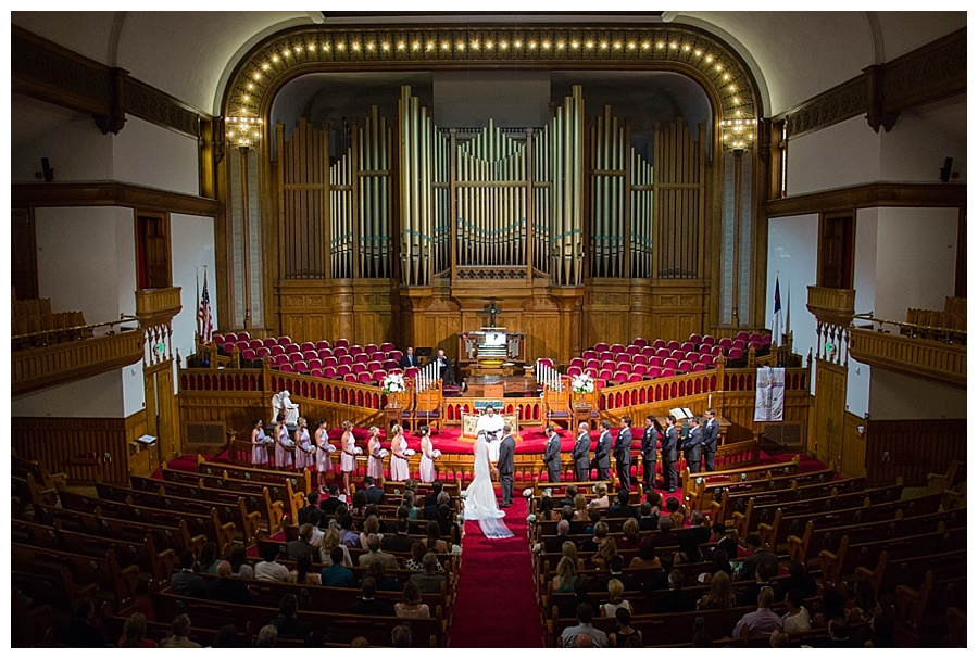 Downtown Denver wedding at Trinity Methodist Church