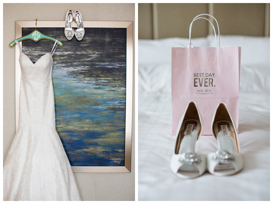 Elegant Wedding gown and shoes