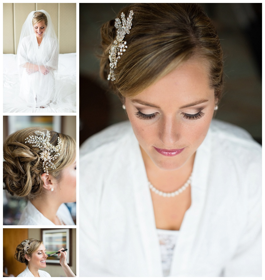 perfect hair and makeup for the bride