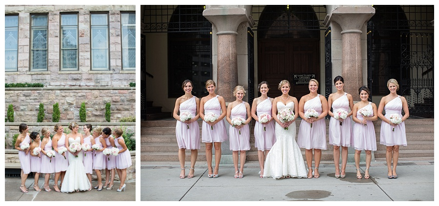 pink bridesmaids dresses downtown Denver