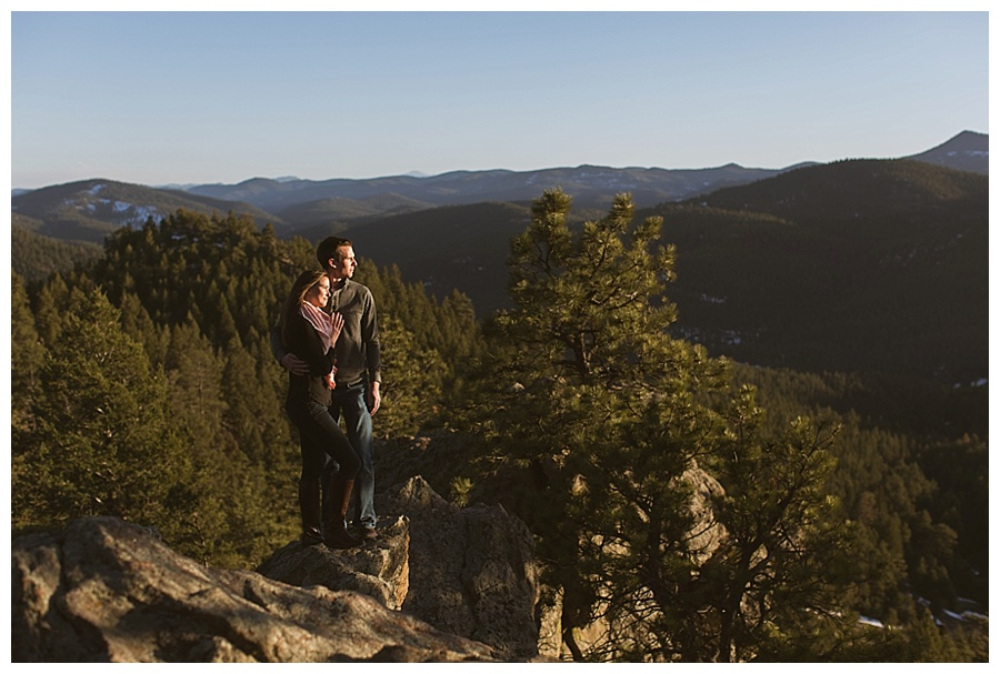 Colorado mountain engagment photos at sunset